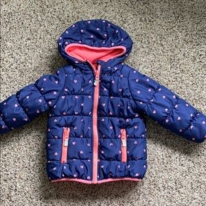 Toddler girl puffer coat